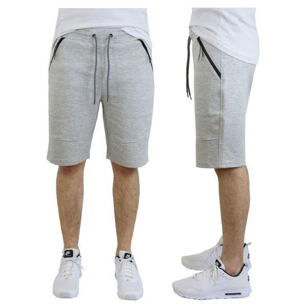 Daily Steals-Men's Tech Fleece Shorts With Zipper Pockets-Men's Apparel-Small-Classic Heather Grey-