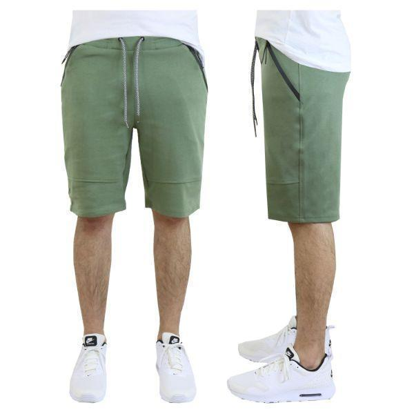 Daily Steals-Men's Tech Fleece Shorts With Zipper Pockets-Men's Apparel-Small-Classic Olive-