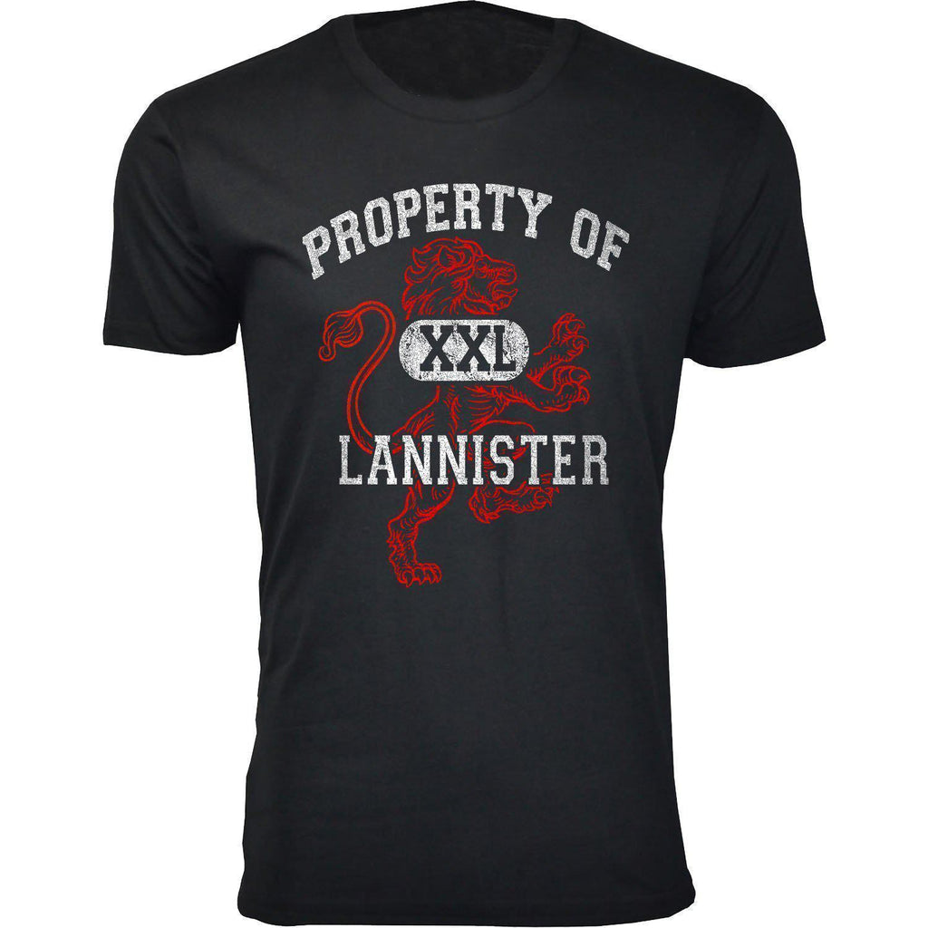 Daily Steals-Men's Thrones and Dragons T-shirts-Men's Apparel-2X-Large-Property Of Lannister - Black-