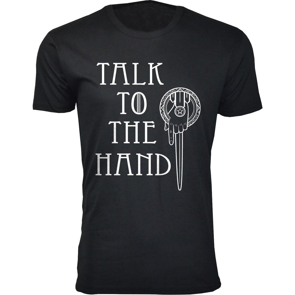 Daily Steals-Men's Thrones and Dragons T-shirts-Men's Apparel-2X-Large-Talk To The Hand - Black-