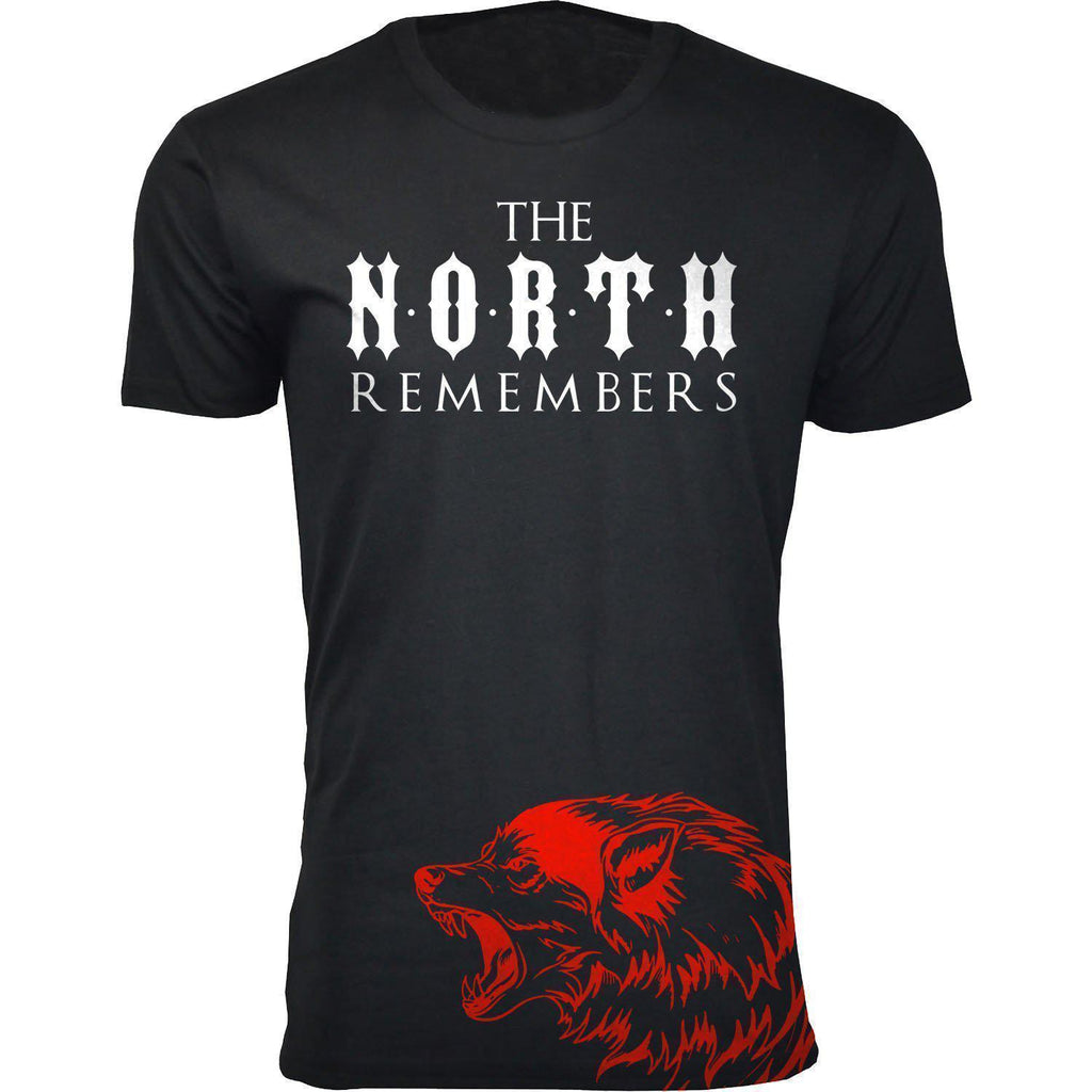Daily Steals-Men's Thrones and Dragons T-shirts-Men's Apparel-2X-Large-The North Remembers - Black-