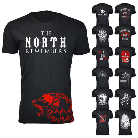 Daily Steals-Men's Thrones and Dragons T-shirts-Men's Apparel-Small-Casterly Rock - Black-