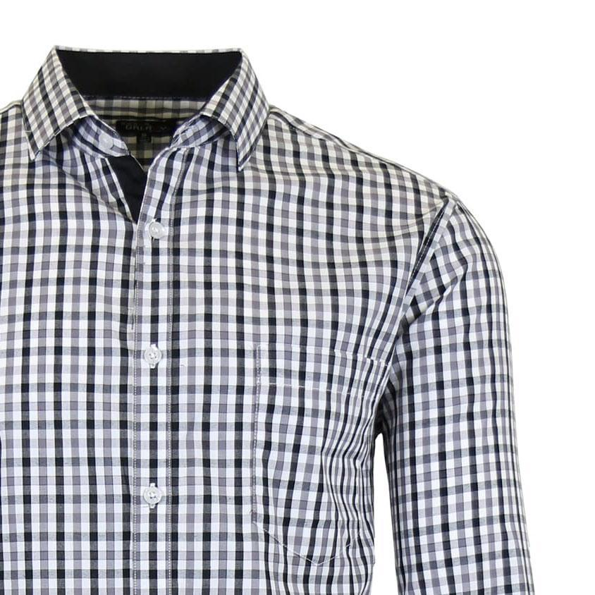 Mens Long Sleeve Slim-Fit Cotton Dress Shirts W/ Chest Pocket-Daily Steals