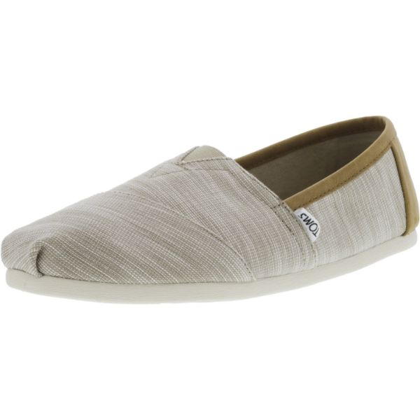 Toms Men's Classic Chambray Oxford Tan Trim Ankle-High Canvas Slip-On Shoes-10.5-Daily Steals