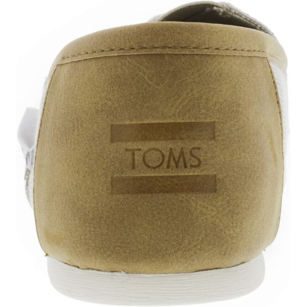Toms Men's Classic Chambray Oxford Tan Trim Ankle-High Canvas Slip-On Shoes-Daily Steals