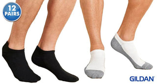 Daily Steals-[12-Pairs] Gildan Men's Performance Cushion No Show Socks-Men's Apparel-
