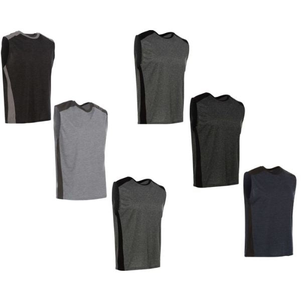 Men's Active Athletic Dry-Fit Performance Tank Tops - 6 Pack-Small-Daily Steals