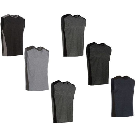 Daily Steals-Men's Active Athletic Dry-Fit Performance Tank Tops - 6 Pack-Men's Apparel-Small-
