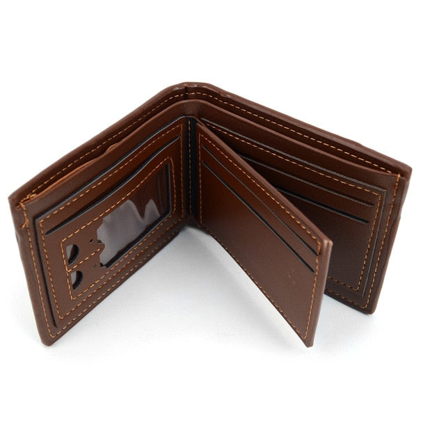 Bi-Fold Leather Striped Wallet-Daily Steals
