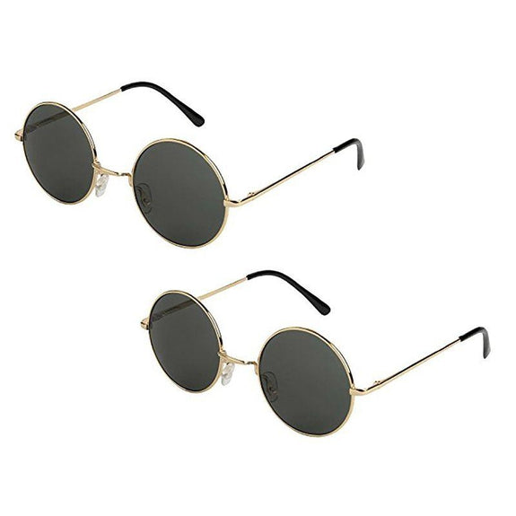 Classic Lennon Style Unisex Round Sunglasses - 2 Pairs-Daily Steals