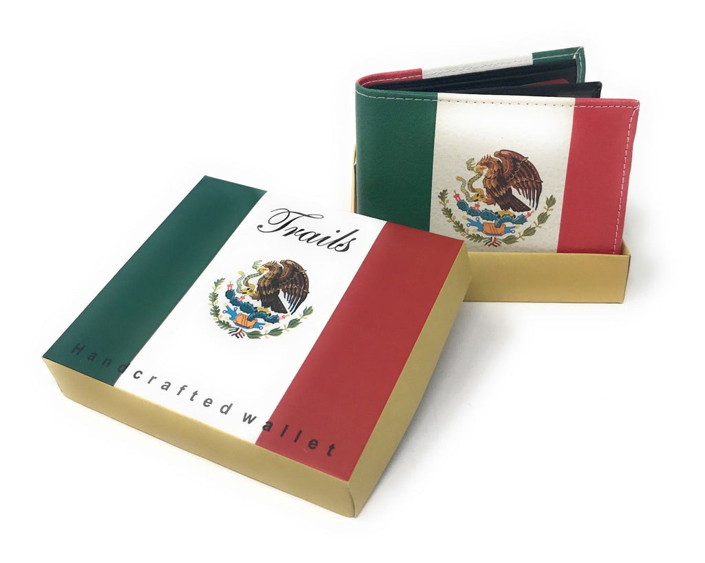 Bifold Wallets With Printed Designs - Comes in Gift Box-MEXICAN FLAG-Daily Steals