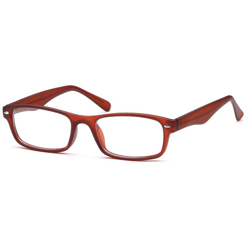 Unisex Eyeglasses 47 18 135 Brown Plastic