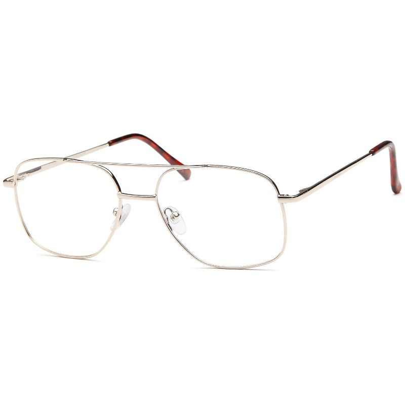 Men's Eyeglasses 55 17 140 Gold Metal