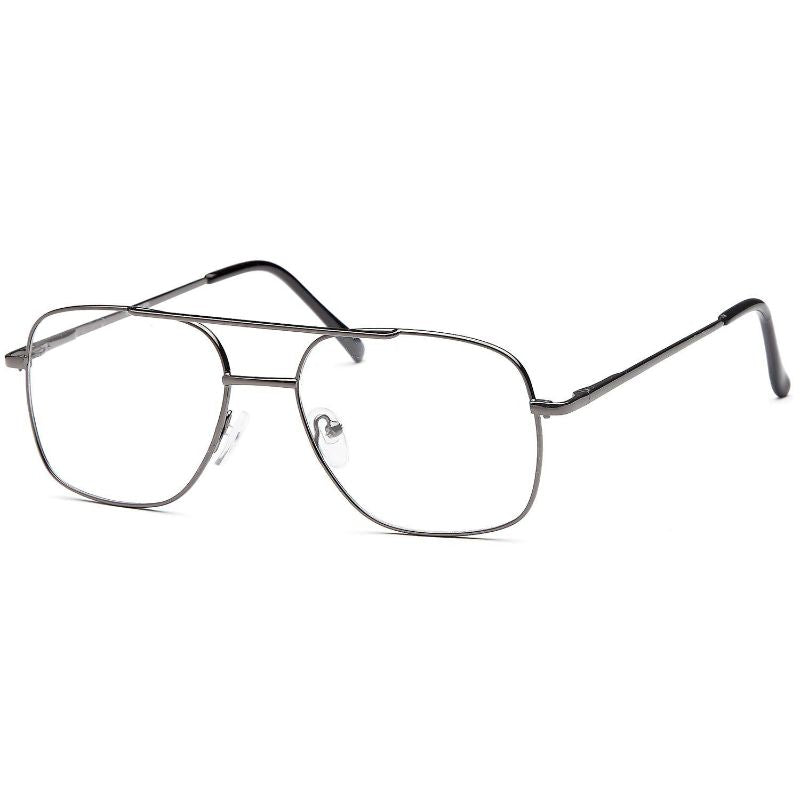 Men's Eyeglasses 55 17 140 Gunmetal Metal