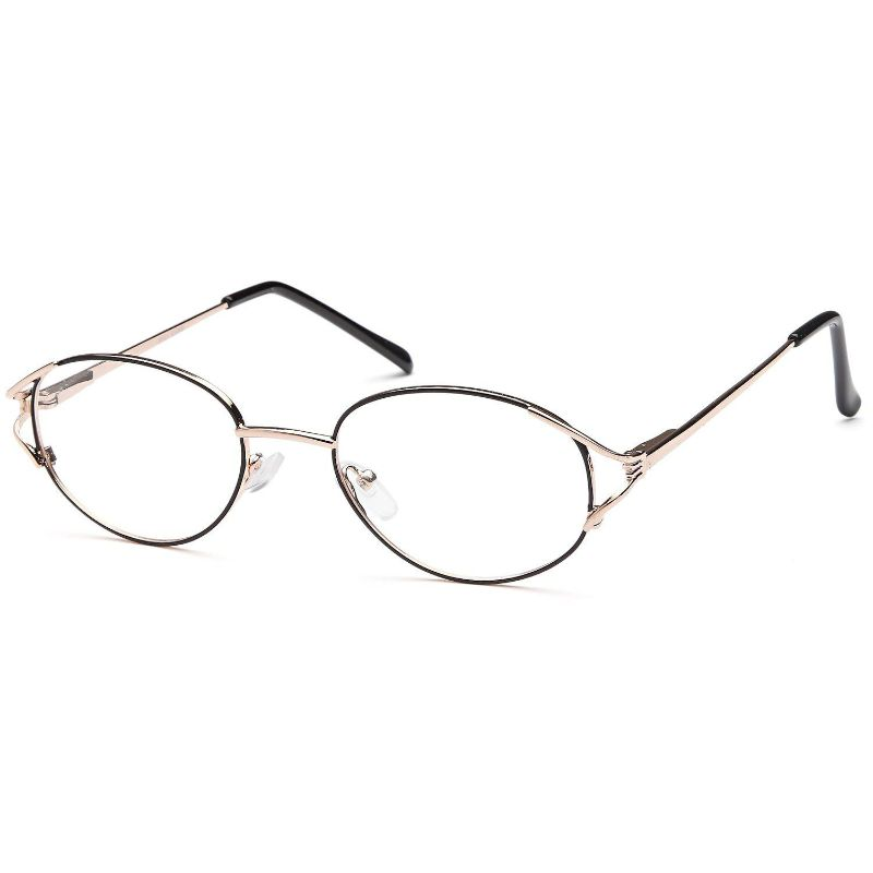 Women's Eyeglasses 53 19 135 Black Gold Metal