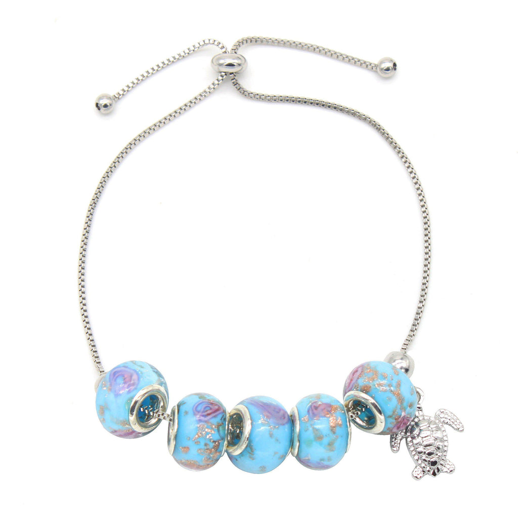 Murano Glass and Crystal Turtle Bracelet-Daily Steals