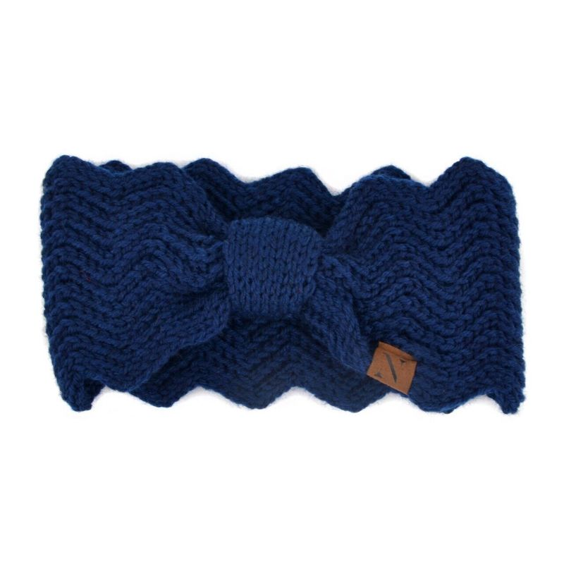 Nollia Women's Knotted Knit Winter Head Band-Blue-Daily Steals