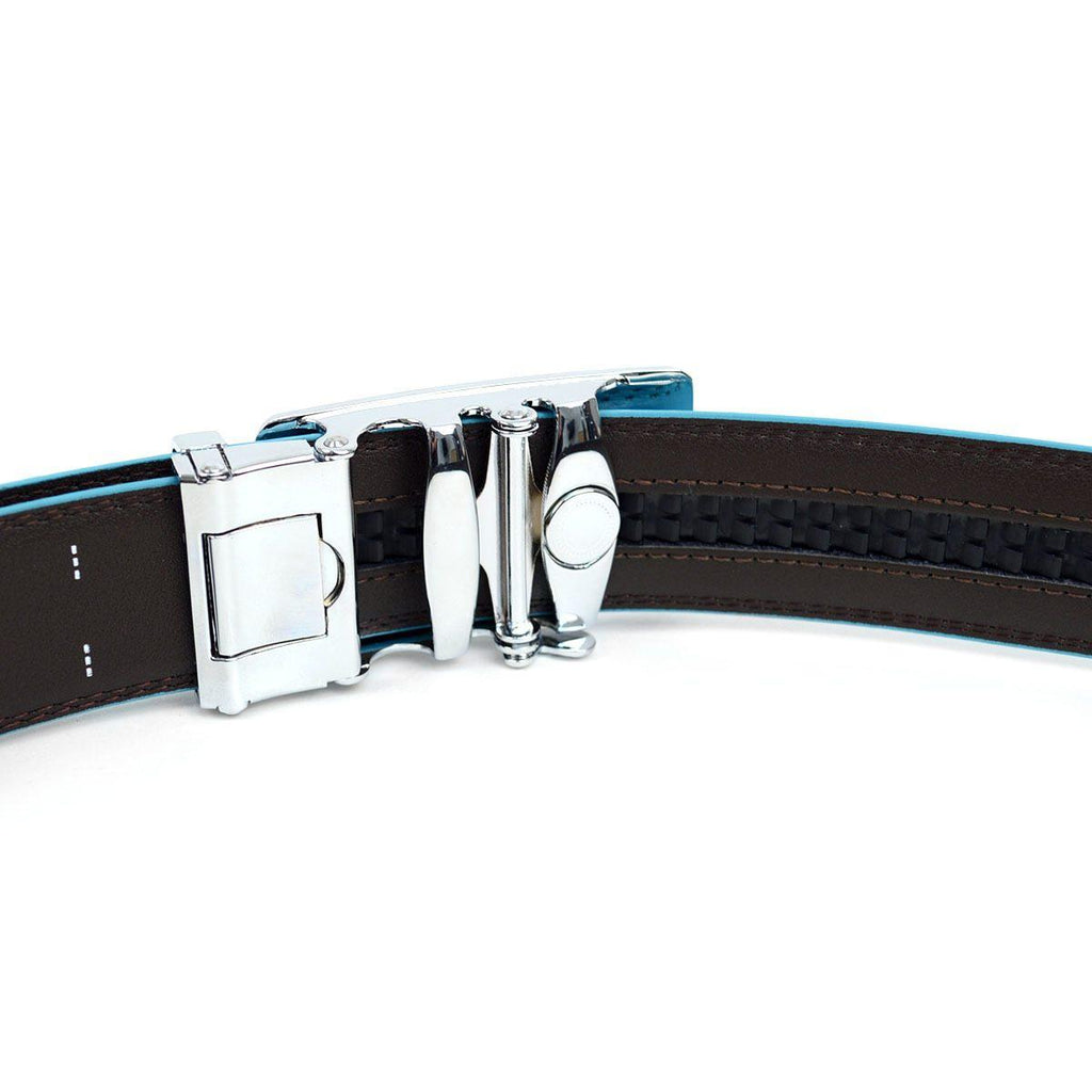 Cut-To-Adjust-Size Men's Genuine Leather Sliding Buckle Ratchet Belt-Daily Steals