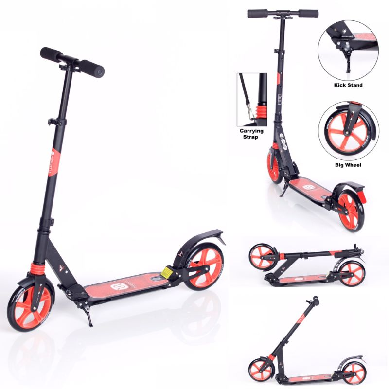 MiaWheels Adjustable and Foldable Kick Scooter for Big Kids or Adults