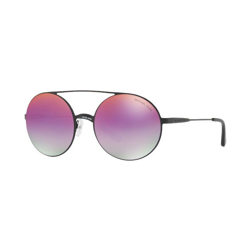 Michael Kors MK1027-1169A9-55 Black Purple Round Sunglasses-Daily Steals