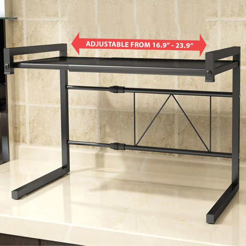 Kitchen Counter Microwave Retractable Oven Rack Shelf