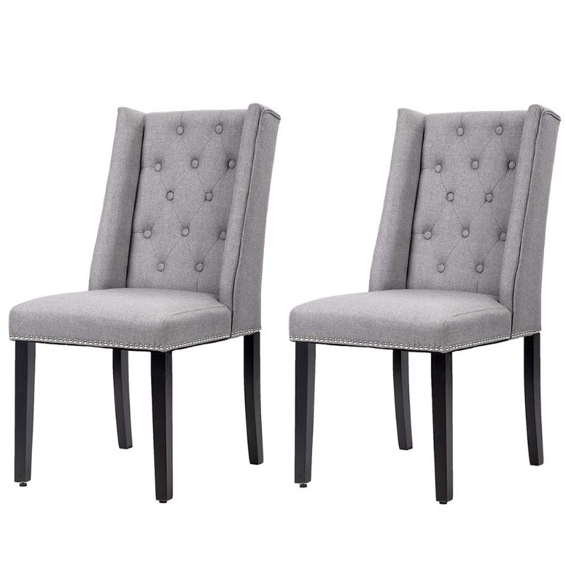 Mid-Century Modern Dining Room Chair Set - 2 Chairs-Grey-Daily Steals
