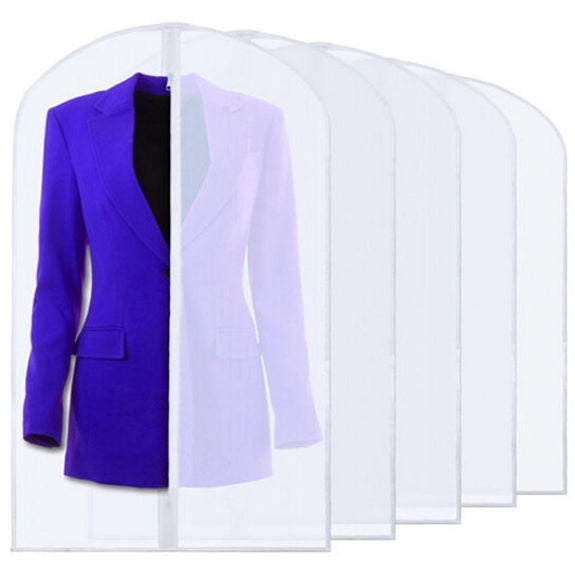 6 Pack Breathable Clothes Covers M/&W Suit /& Dress Length Dust Mould Mildew /& Moth Resistant Fabric Hanging Zipped Bags