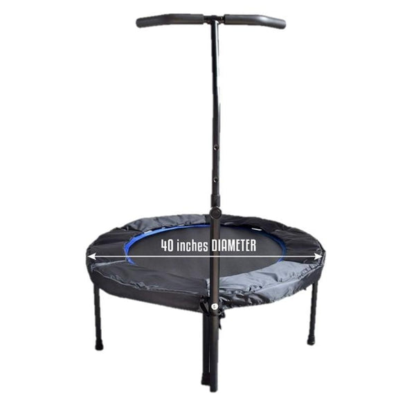 Mini Exercise Trampoline with Adjustable Handle Bar-Daily Steals