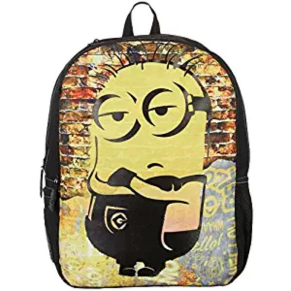 "Boys and Girls Assorted Kids Backpack-Minion Cool Dude 18""-Daily Steals"