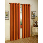 Set of Two Stylish Curtain Panels with Rod Grommets: 58 x 84 Inches-Brick-Daily Steals