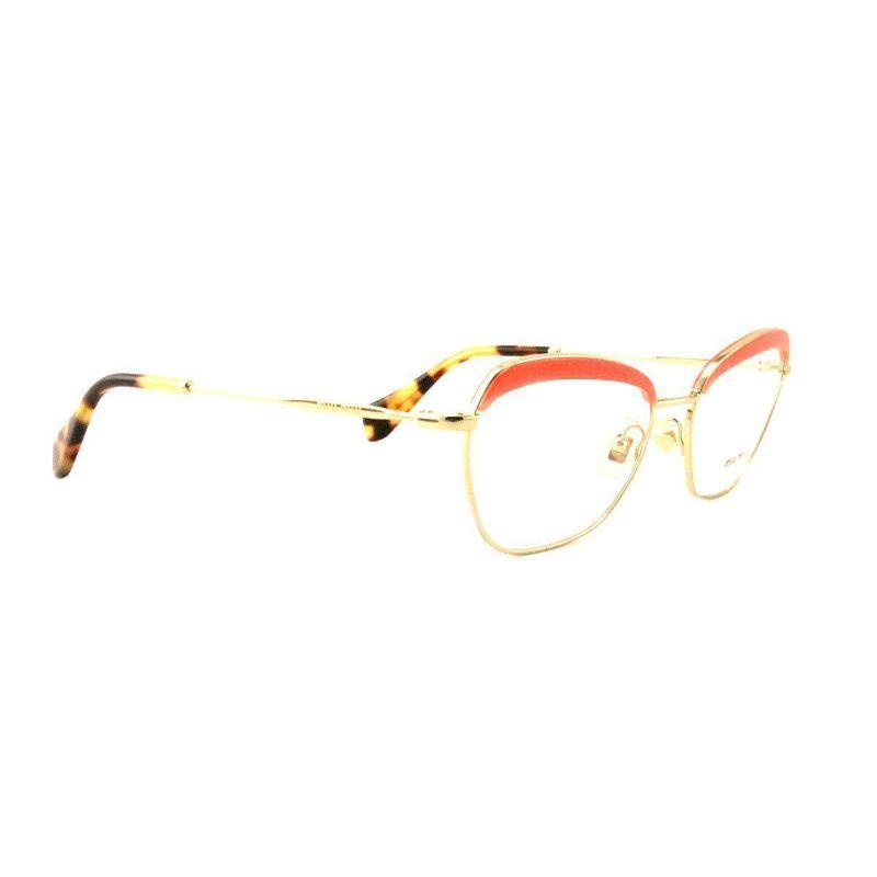 Miu Miu Women's Eyeglasses VMU 51N PC2 101 Gold Rose Havana Metal 54 17 140-