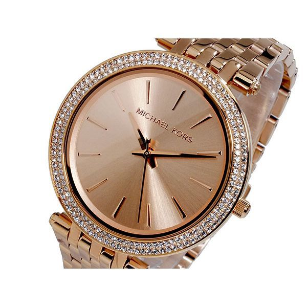 Michael Kors Darci Rose Gold Pave Bezel Women's Watch-Daily Steals