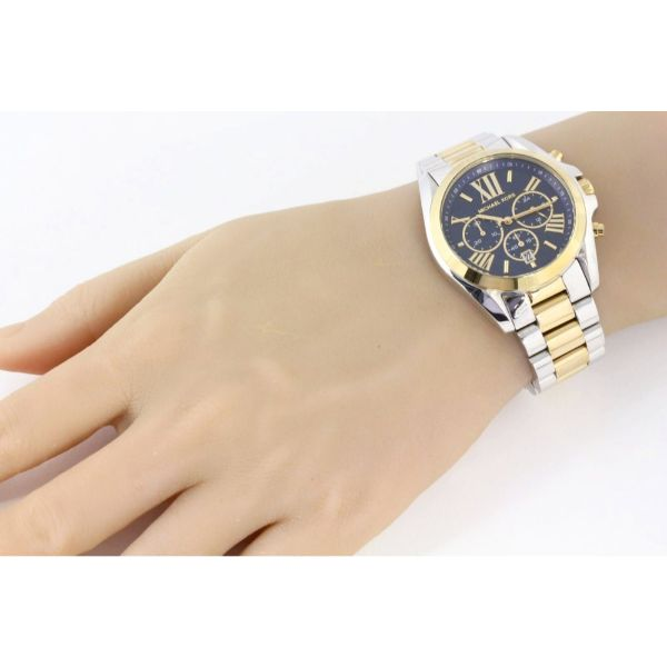 f2ae252484037 Daily Steals-Michael Kors Bradshaw Chronograph Blue Dial Silver and Gold Tone  Women's Watch-