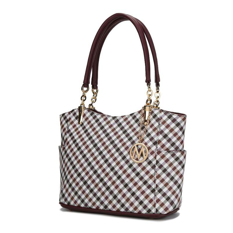 MKF Collection Bertha Tote Bag-Burgundy-Daily Steals