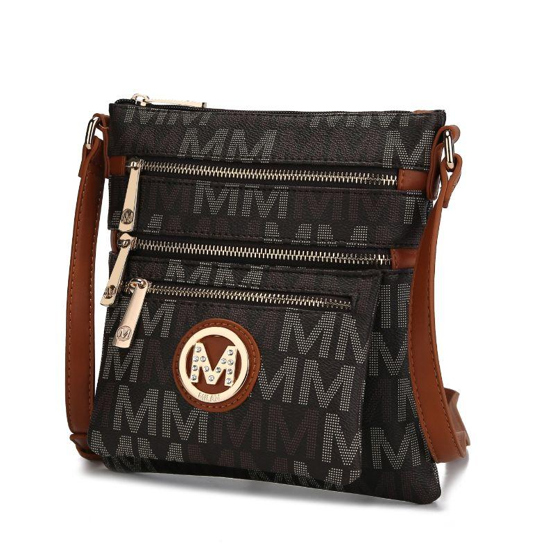 MKF Collection by Mia K - Beatrice Crossbody Bag-Brown-