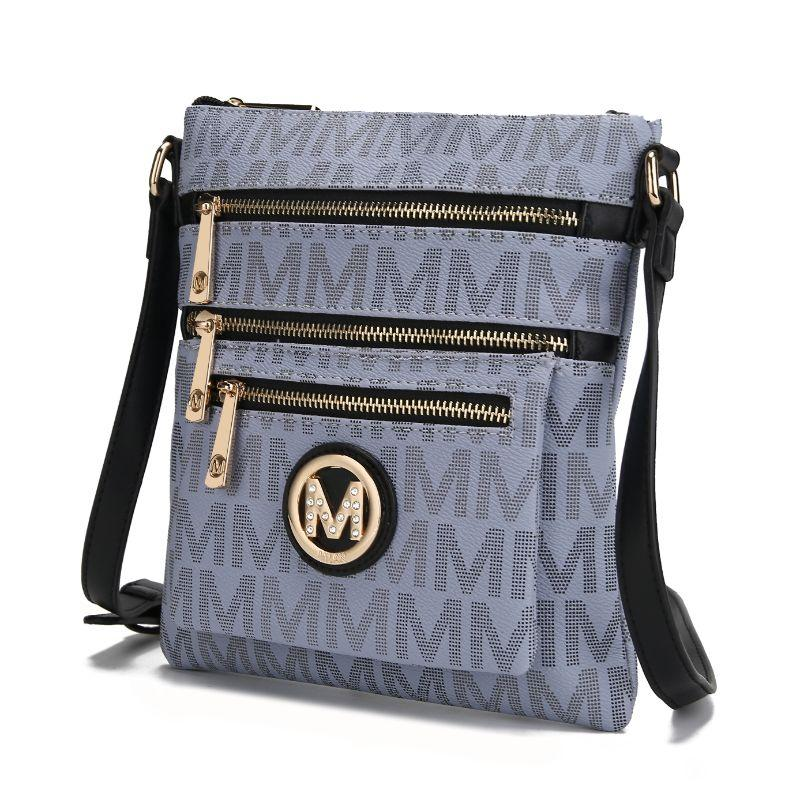 MKF Collection by Mia K - Beatrice Crossbody Bag-Gray-