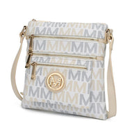 MKF Collection by Mia K - Beatrice Crossbody Bag-White-