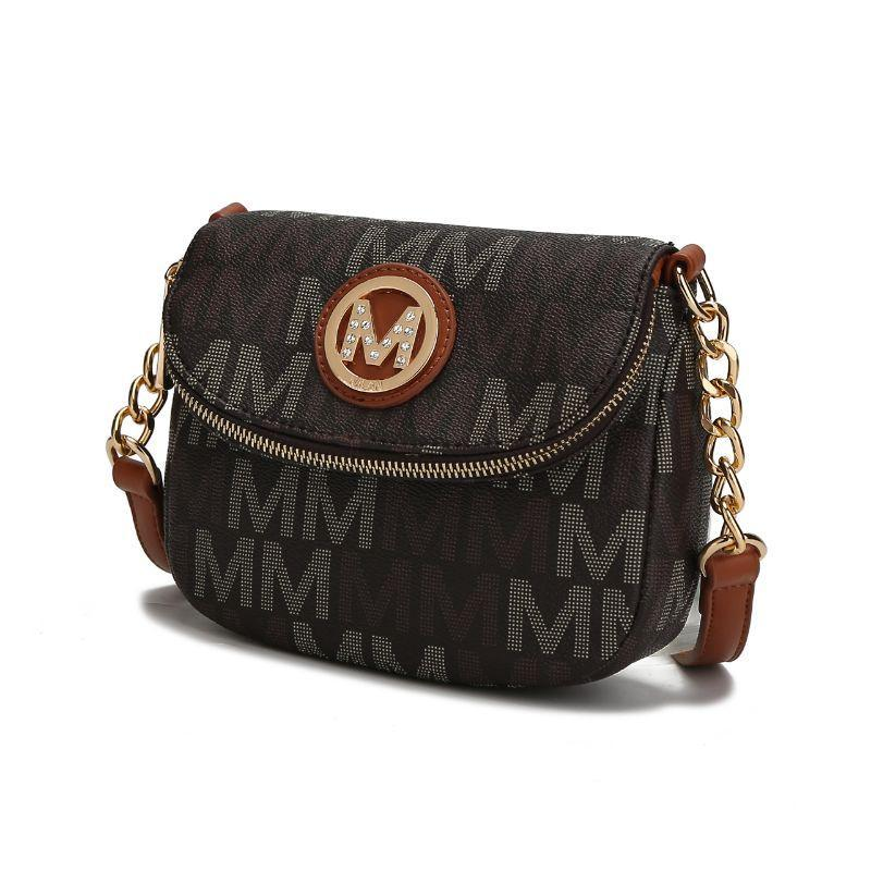 MKF Collection by Mia K - Camila Crossbody Bag-Brown-