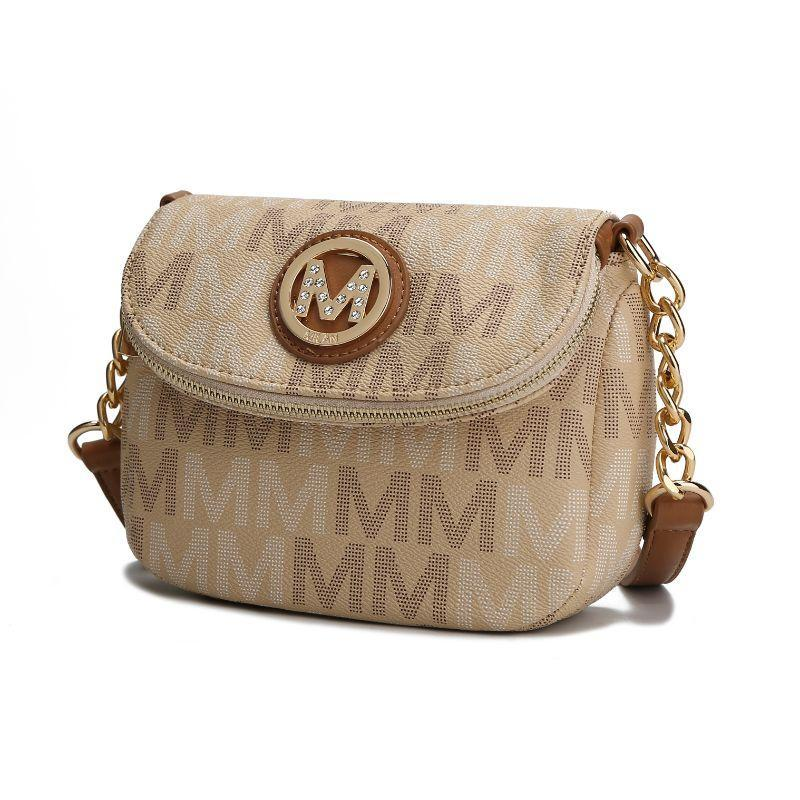 MKF Collection by Mia K - Camila Crossbody Bag-Beige-