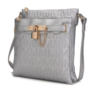 MKF Collection by Mia K - Hallie Lock Oversized Crossbody Bag-Silver-Daily Steals