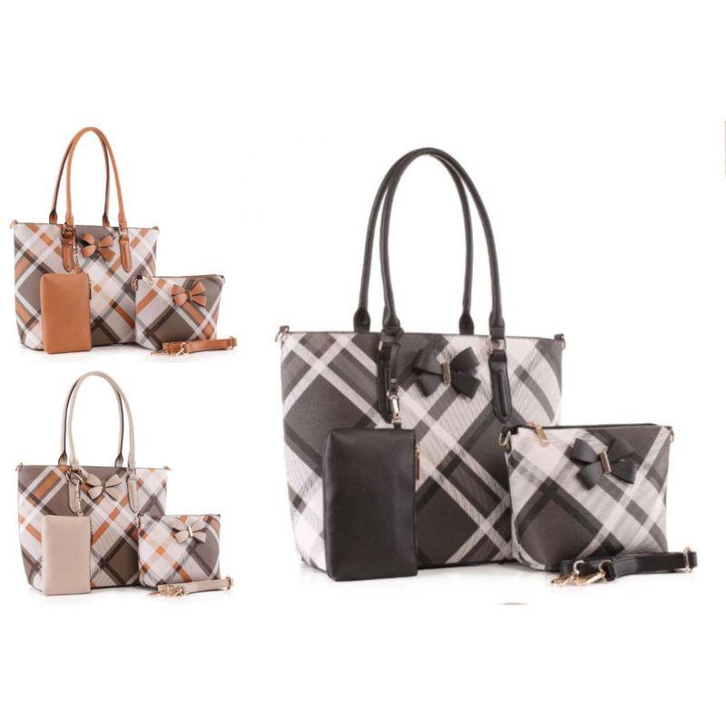 MKF Collection Jixi Tote, Crossbody Bag and Matching Wristlet-Daily Steals