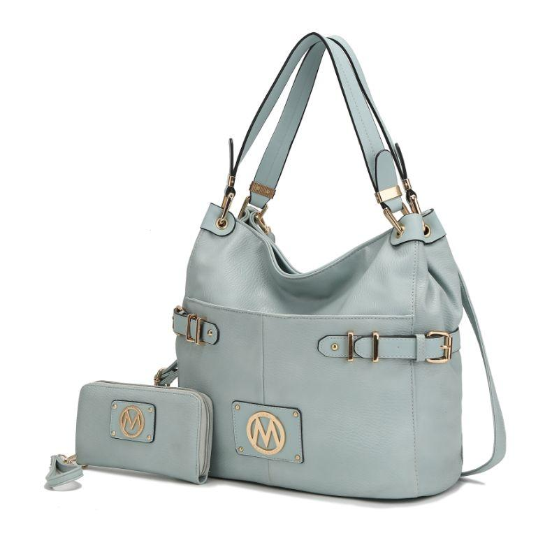 MKF Collection Latoya Hobo Bag and Matching Wristlet-Seafoam-Daily Steals