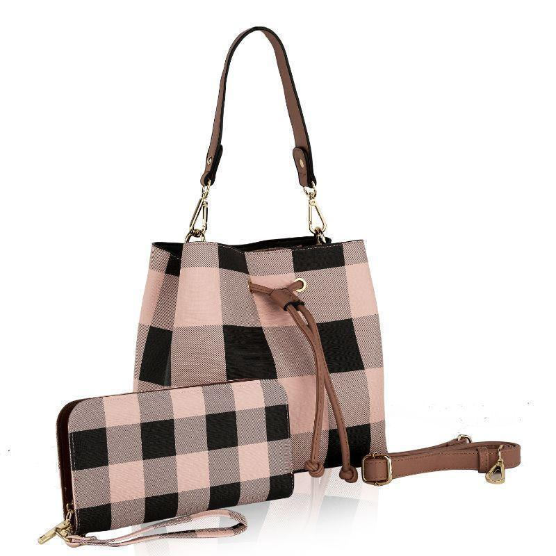 MKF Collection Lue Hobo Hangbag with Matching Wallet-Light Pink-