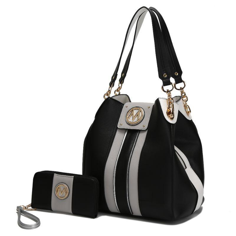 MKF Collection Mirtha Hobo Bag with Wallet-Black-