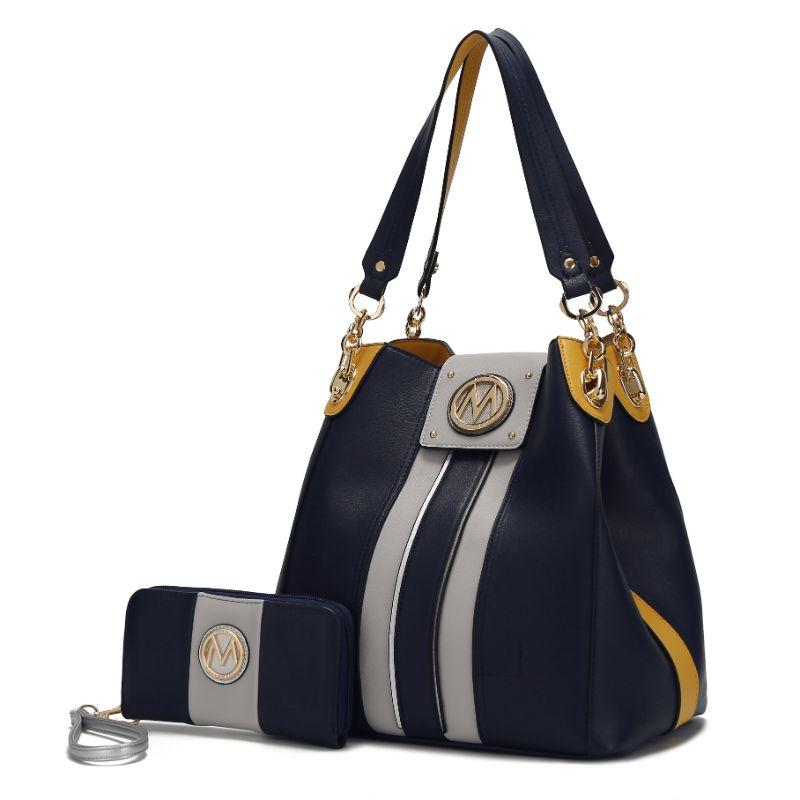 MKF Collection Mirtha Hobo Bag with Wallet-Navy-