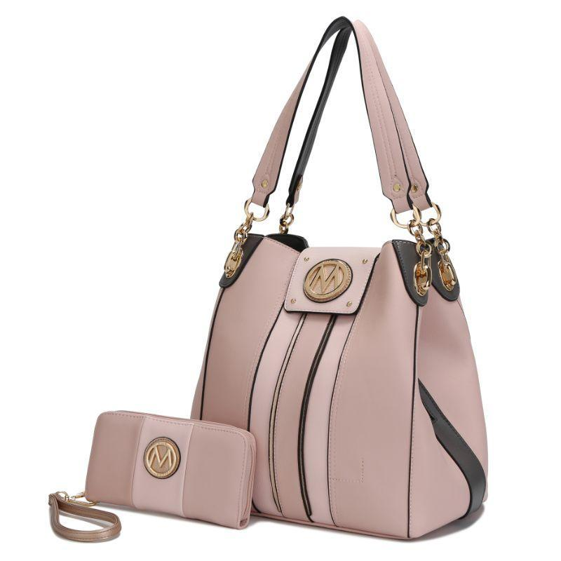 MKF Collection Mirtha Hobo Bag with Wallet-Pink-