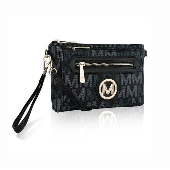 MKF Collection Normani 2 in 1 Wristlet Crossbody by Mia K. Farrow-Black-Daily Steals