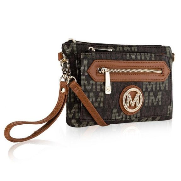 MKF Collection Normani 2 in 1 Wristlet Crossbody by Mia K. Farrow-Brown-Daily Steals
