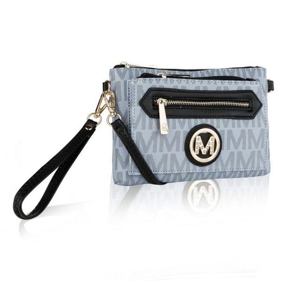 MKF Collection Normani 2 in 1 Wristlet Crossbody by Mia K. Farrow-Grey-Daily Steals