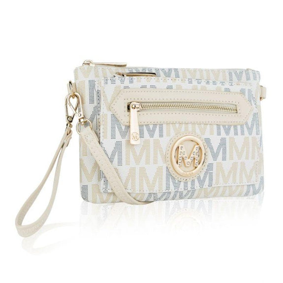 MKF Collection Normani 2 in 1 Wristlet Crossbody by Mia K. Farrow-White-Daily Steals